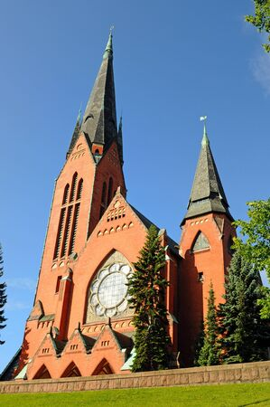 scandinavian peninsula: Archangel Michaels church is a famous building at Turku in the South of Finland