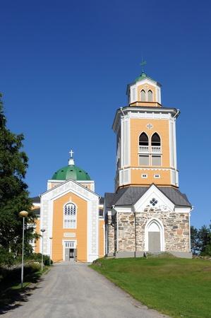 scandinavian peninsula: The church of Kerimaki in Finland is the largest wooden church worldwide