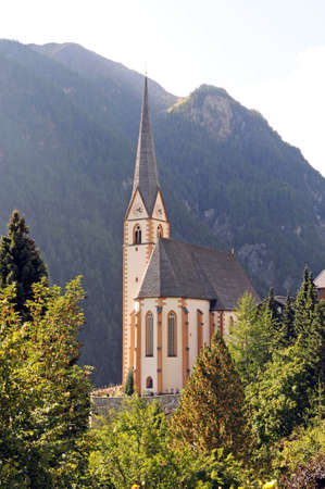 parish: Holy Vincent church at Heiligenblut at the Grossglockner Stock Photo