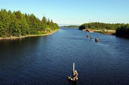 scandinavian peninsula: Typical finnish landscape, here near Savonranta