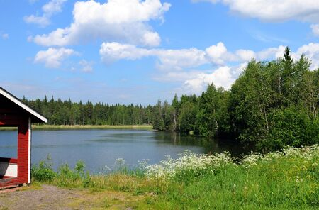 Typical landscape in Finland, here near Raahe photo