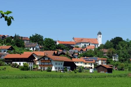 rott: Vista de la aldea de Rott am Inn, en Baviera cerca de Wasserburg Editorial