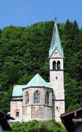 berchtesgaden: The protestantic Christuskirche at Berchtesgaden