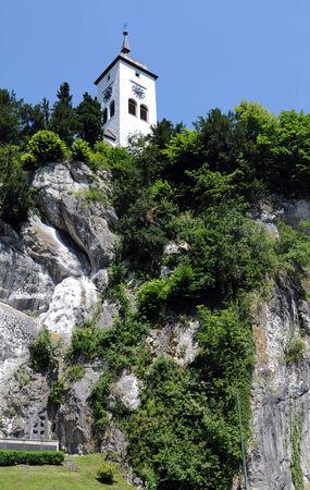 catholism: a church in Traunkirchen, Austria