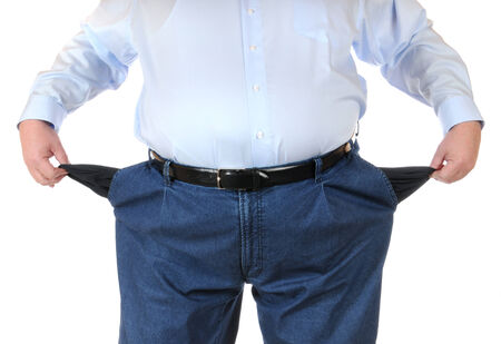 depressant: Poor man with empty pockets