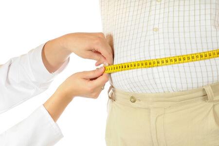pot belly: Measurement of a fat man