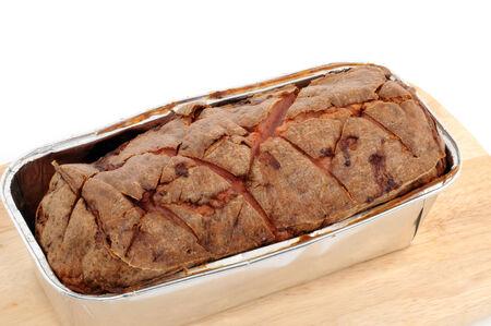 Fresh Leberkaese is typical Bavarian food