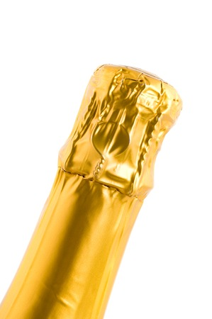 edel: Bottle of champagne in front of a white background
