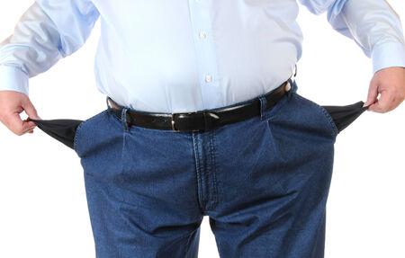hombre pobre: Pobre hombre con los bolsillos vac�os