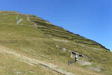 moutains: avalanche protection at the Parsenn near Davos