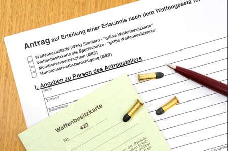 licence: German gun licence with ammunition