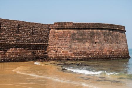aguada: Fort Aguada on a sunny day in Goa, India