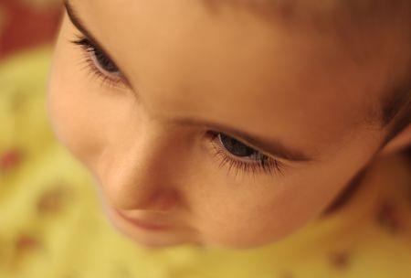 Child's eyelashes and eyebrows close-up Stock Photo - 5930977