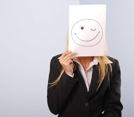 shere: Blonde women in the office shere the smiley mood