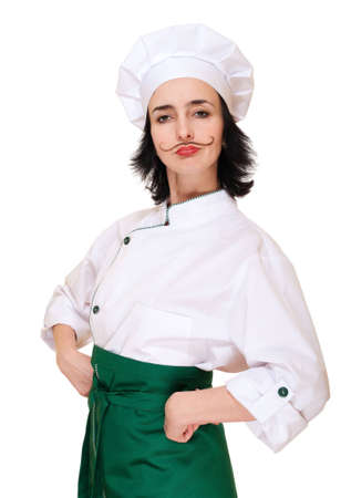 Woman in chef Stock Photo - 12285023