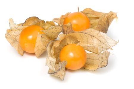 physalis berries, isolated on a white background