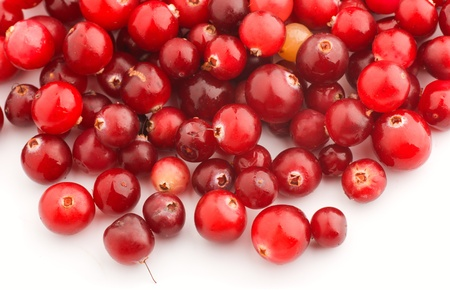 canneberges: Cranberries are on a white background Banque d'images
