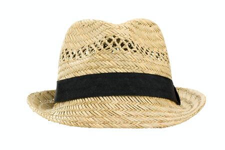 Straw hat, isolated on a white background Stock Photo
