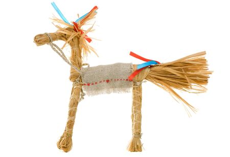 Braided horse toy, isolated on a white background