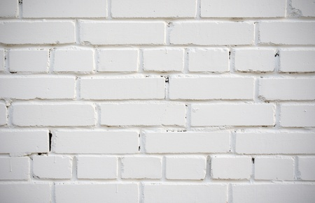 White brick wall of an old house