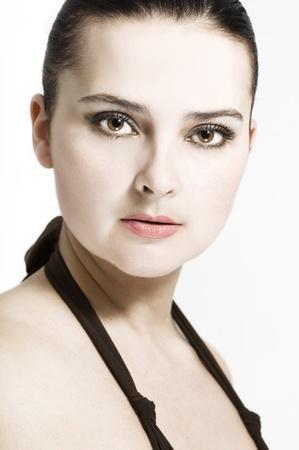 Portrait of beautiful sexy women on white background Stock Photo