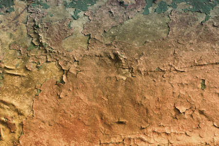 An old colored cracked surface Stock Photo