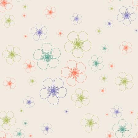 Flower gentle background .Vector seamless pattern