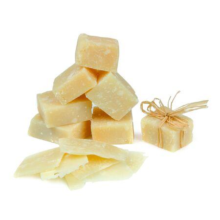 Parmesan: parmesan cheese laid pyramid Stock Photo