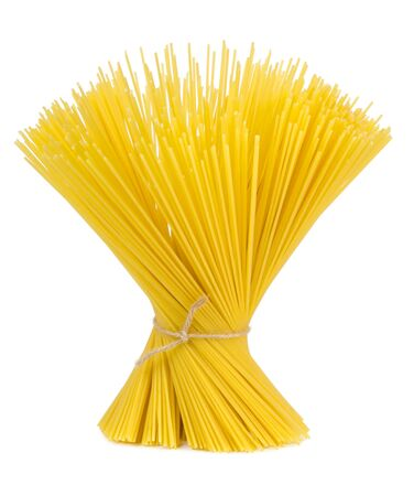 food products: spaghetti pasta isolated on a white background Stock Photo