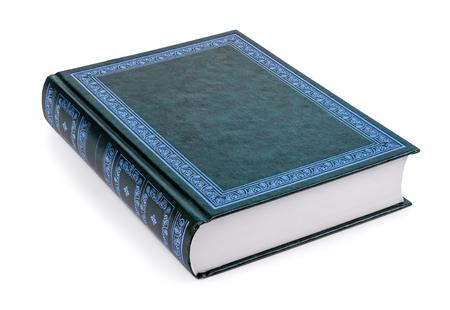Chiuso il libro isolato su uno sfondo bianco