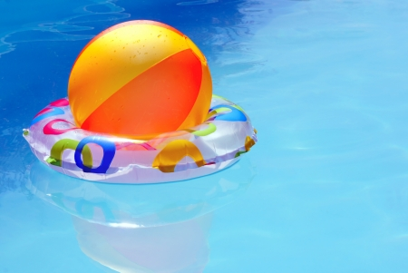 Inflatable toys in water  photo