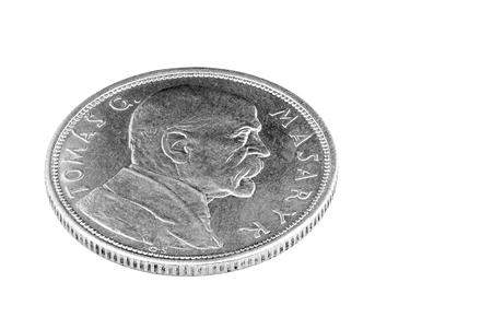czech republic coin: Ten crowns Czechoslovak  Czech  1918-1928 Tomas Garik Masaryk  Stock Photo