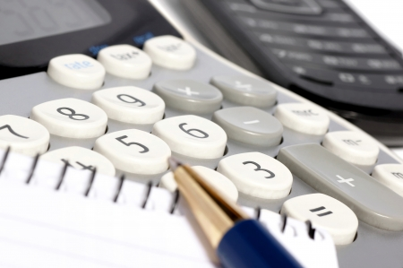 secretarial: Calculations on a calculator