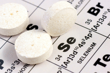 Selenium supplement in tablet lies on the periodic table of elements