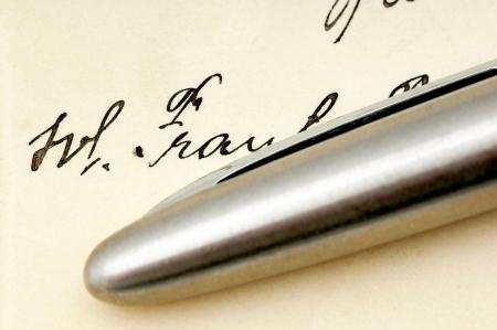 missive: Signature Stock Photo