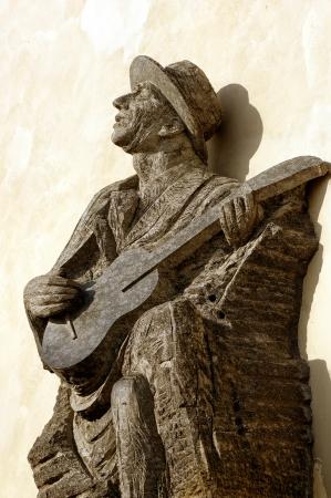 The monument on which Karel Hasler Prague castle,Czech