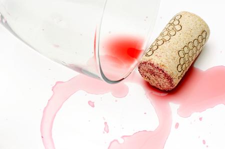 Rozlane wino Zdjęcie Seryjne