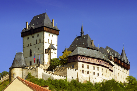 centenarian: View of Karlstejn Castle District Beroun, Czech Republic