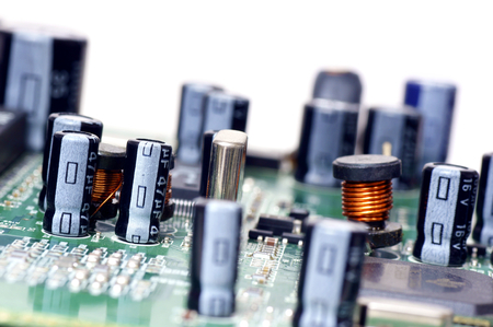 electronically: Electronic components on printed circuit ,