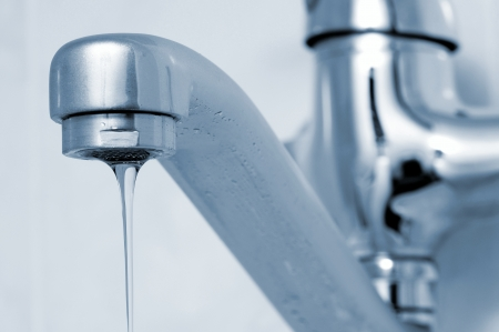 triggered: Weak stream of water flowing from the tap