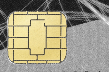 Closeup of a credit card chip Stock Photo - 23649789