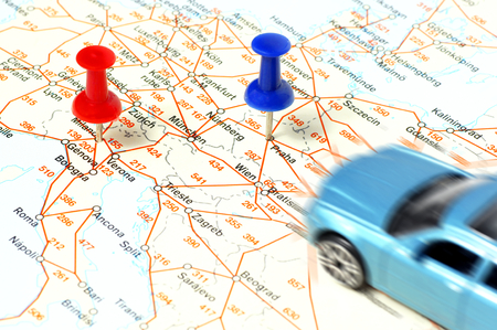 scheming: Distance between cities Marked points, Milan and Prague