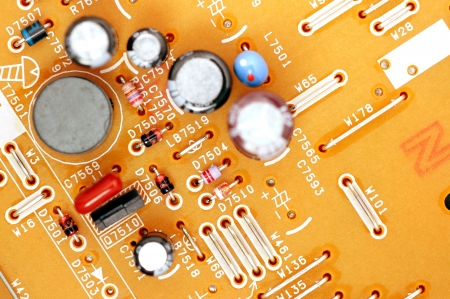 Components on the printed circuit board electronic circuit