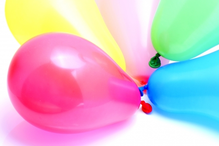 kiddie: Inflatable balloons of different colors