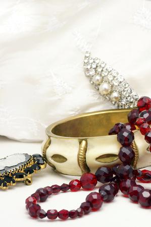 attired: Old jewellery Stock Photo