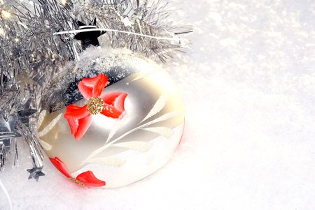 frostily: Snowy Christmas balls in silver color