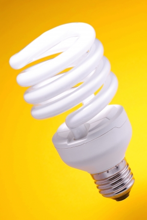 cheapness: Low-energy bulb Stock Photo