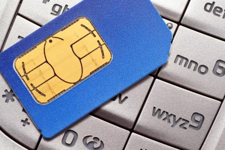 電話カード sim 携帯電話のキーパッド