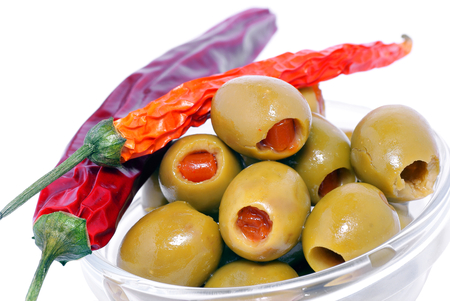 Olives with peppers