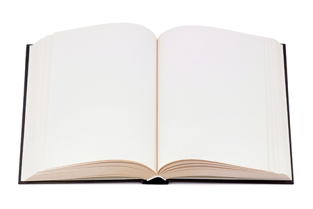 Book with blank page  Stock Photo